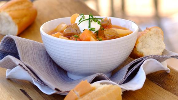 Rich beef Goulash soup