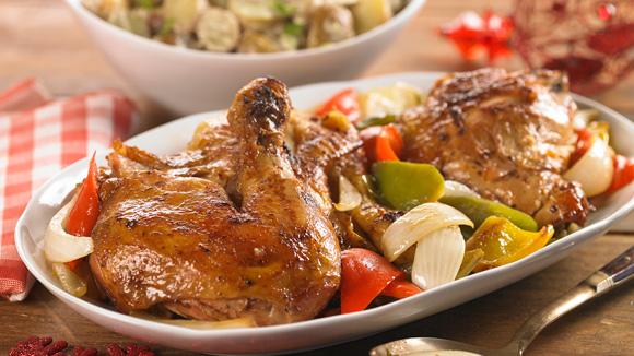recipe: ensalada rusa con pollo al horno [8]