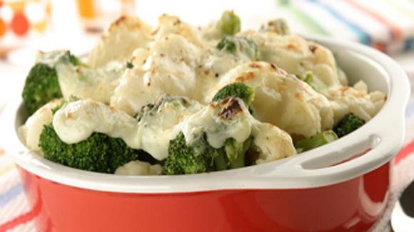 Receta de Gratén de brócoli y coliflor