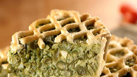 Receta de Tarta de judías verdes