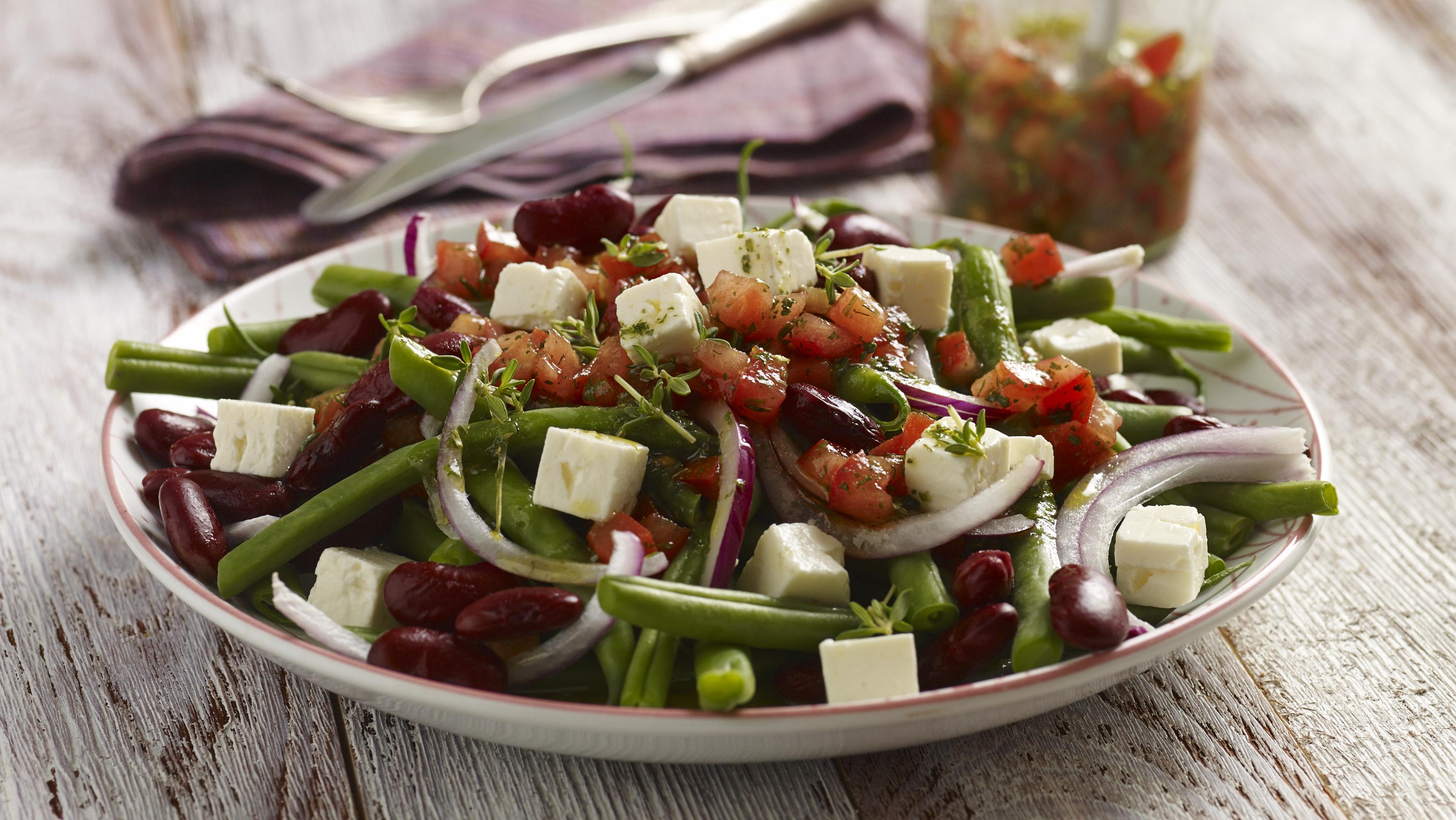 Ensalada de jud as verdes tomate y queso feta - Ensalada de judias verdes arguinano ...
