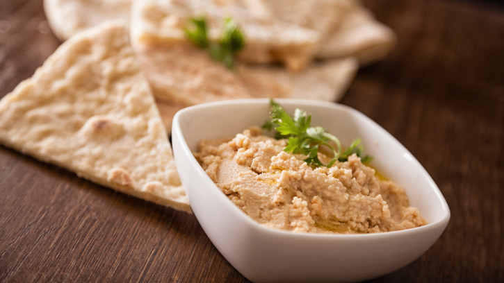 Receta de Hummus de garbanzos