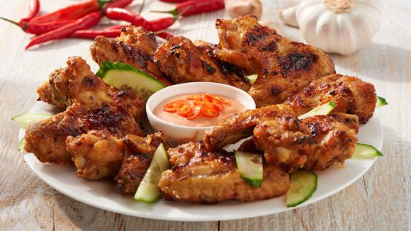 Alitas de pollo estilo thai