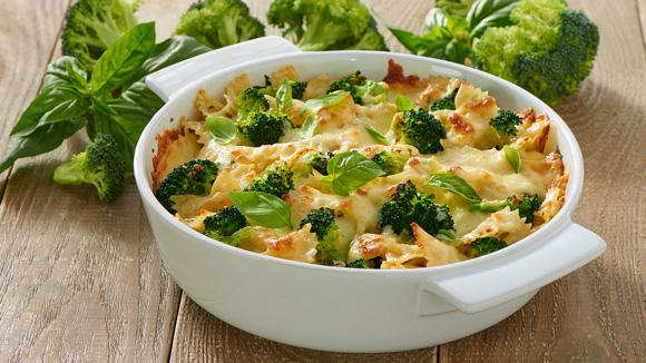 Cazuela de brócoli y pasta