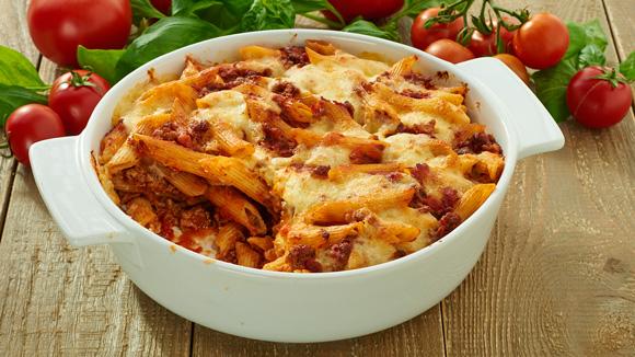 Cazuela de pasta italiana
