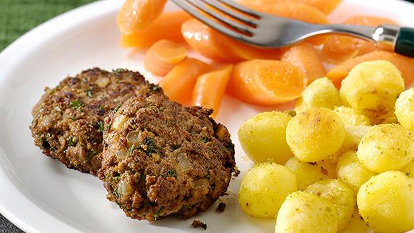Petites boulettes de viande au persil et aux oignons