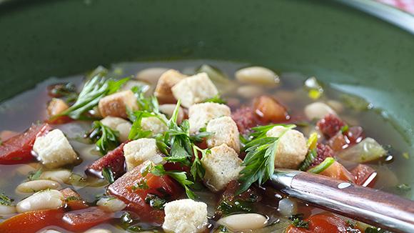 Potage de légumes toscans