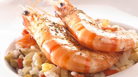 Risotto aux grosses crevettes