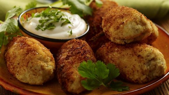 Croquettes de poulet brésiliennes (Coxinhas)