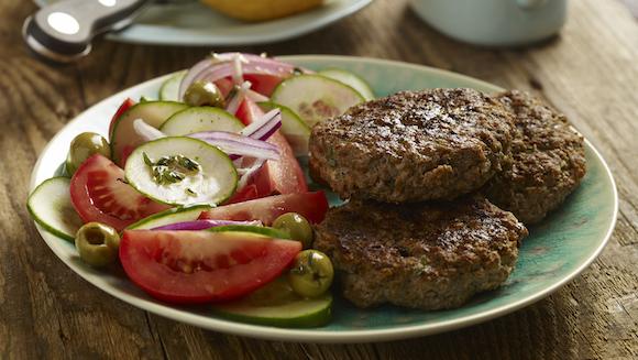 Hamburgers à la grecque