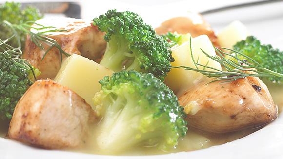 Poêlée de poulet à l'aneth