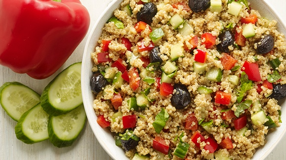 Salade de quinoa la m diterran enne for Cocinar 1 taza de quinoa