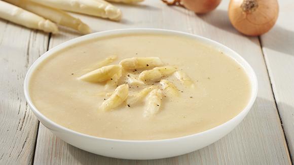 Soupe d'asperges blanches