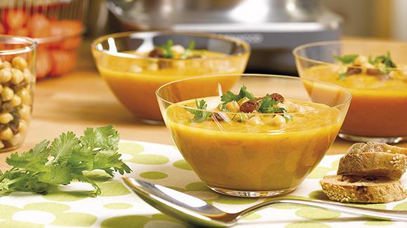 Soupe de carottes à l'Orientale