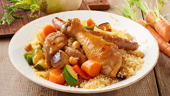 Couscous Royal (Agneau, poulet, merguez)