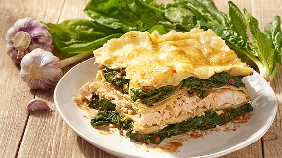 Lasagnes de saumon et épinards