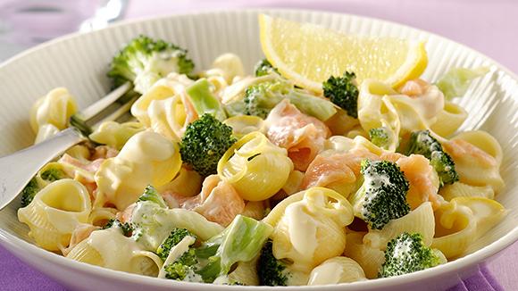 p 226 tes au saumon fum 233 et brocolis recette knorr
