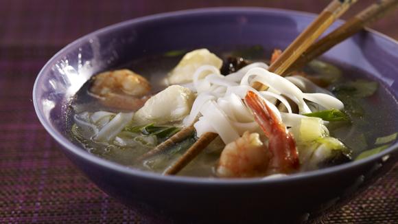 Soupe parfumée aux nouilles façon thaï