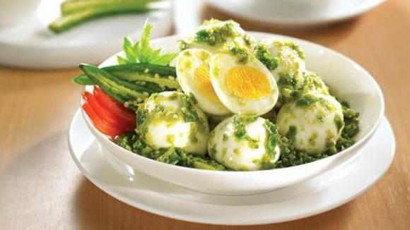 Telur Balado Hijau