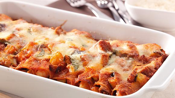 Vegetarische cannelloni pasta