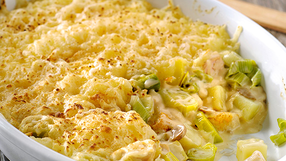 Ovenschotel Kip en Champignon Crème