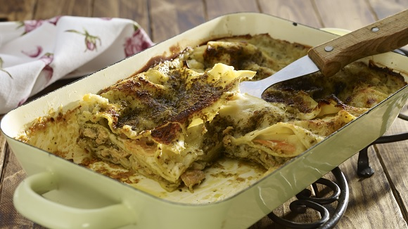 Lasagne met pesto en zalm