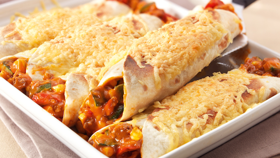 Tortilla wrap uit de oven