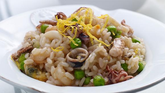 Eenvoudige risotto met zeevruchten