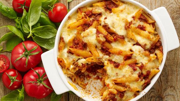 Ovenschotel van italiaanse pasta