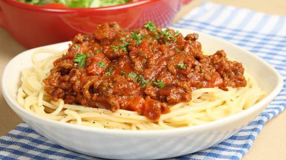 spaghetti recept gehakt