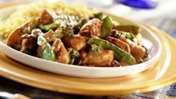 Indiase Kip Tandoori met broccoli en peultjes