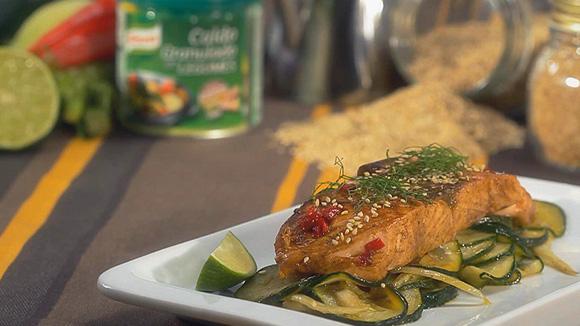 Receita Lombos de salmão com funcho