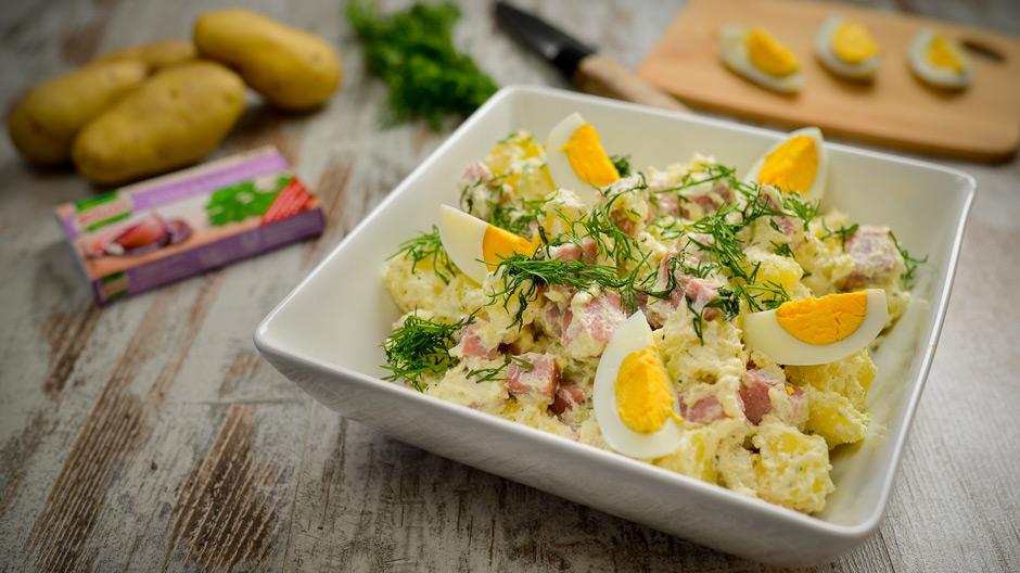 Salada de batata com ricota