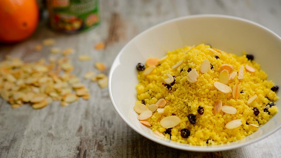 Receita Cuscuz com laranja e frutos secos