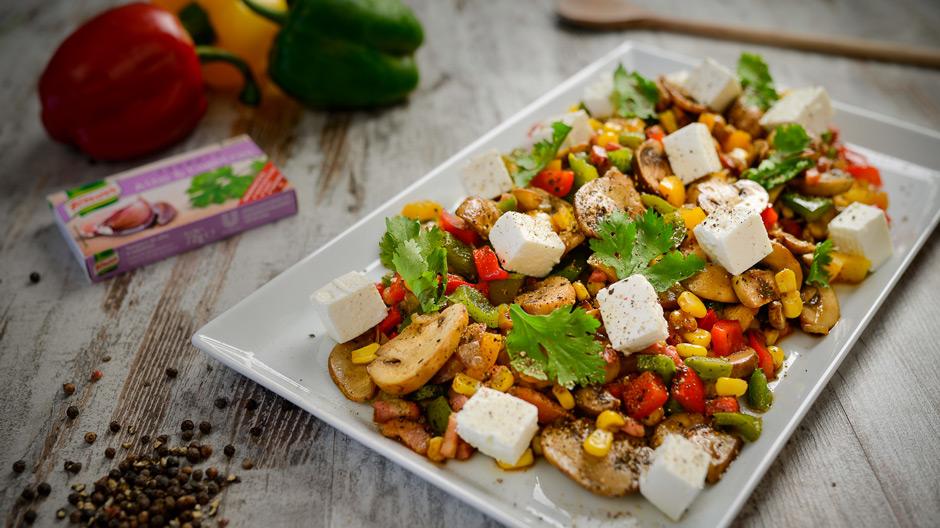 Receita Salada de milho e 3 pimentos