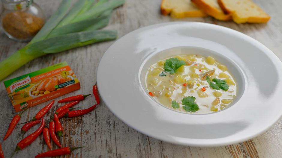 Sopa deliciosa de amêijoas