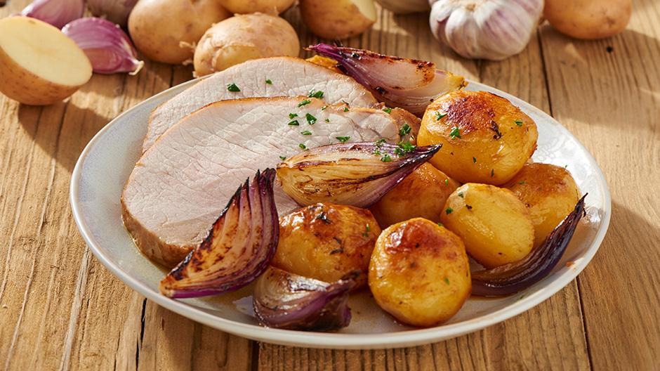 Receita Lombo de porco assado com batatas