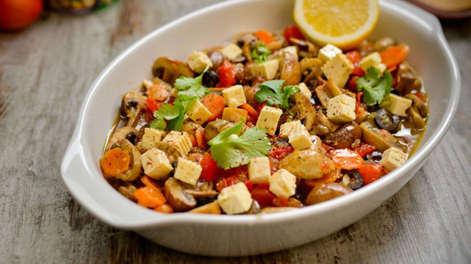 Receita Salada de Cogumelos à Grega