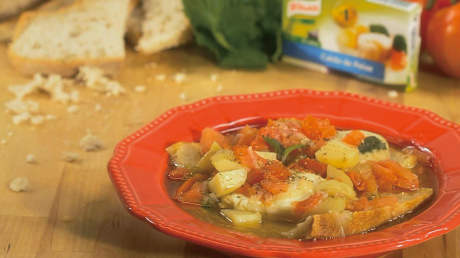 Receita Sopa de Peixe