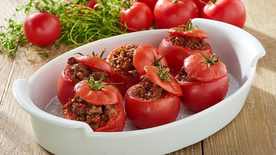 Receita Tomate recheado com carne