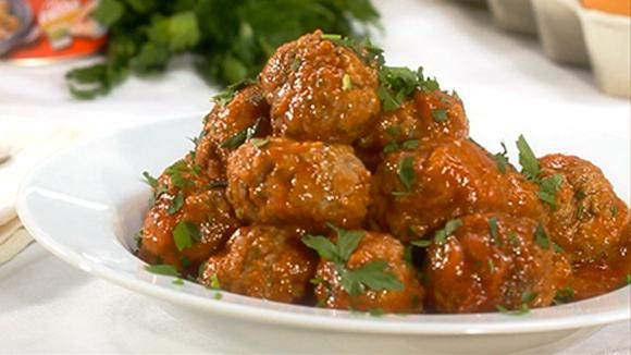 Receita Almôndegas com molho de tomate