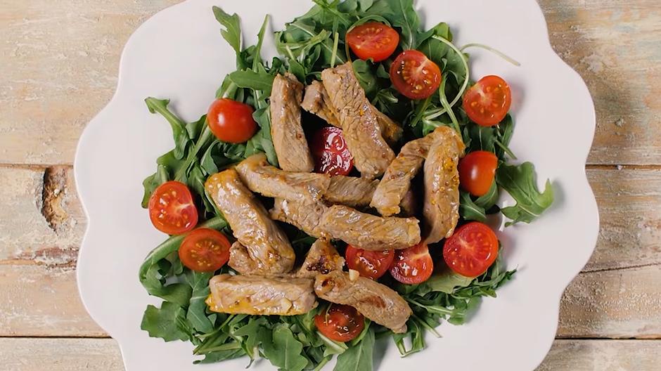 Receita Carne Salteada à Italiana