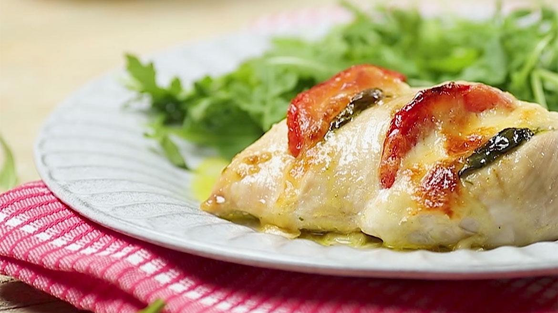 Receita Colmeia de frango com mozzarella e tomate
