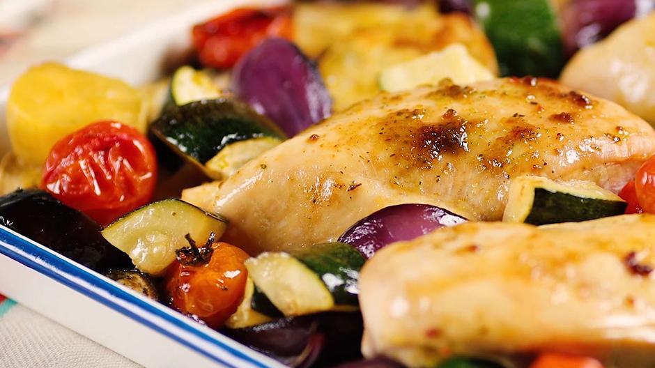 Receita Frango no Forno com Legumes