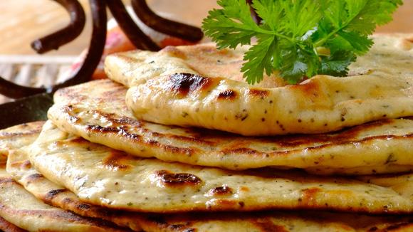 Receita Pão naan indiano