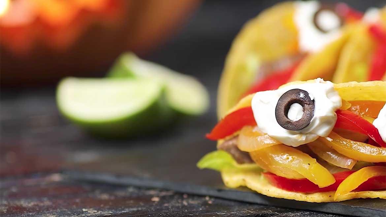 Receita Tacos de Halloween
