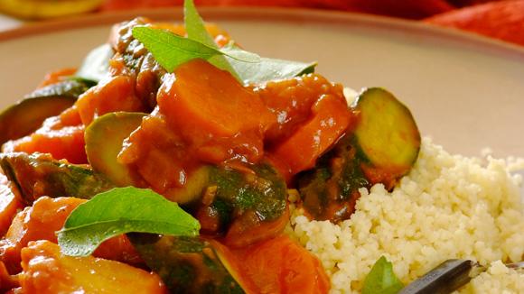 Receita Vegetais estufados à marroquina
