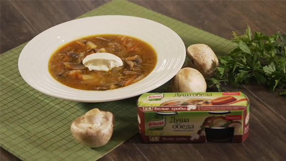 Грибной суп с репой