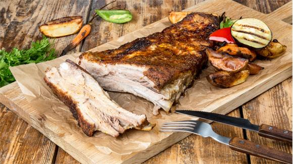 Свиные ребра барбекю