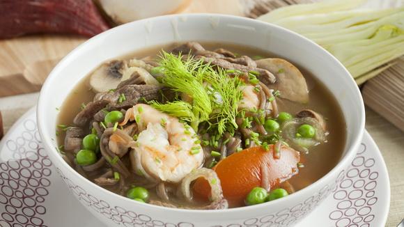 Грибной суп в тайском стиле